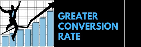 Greater conversion Rate