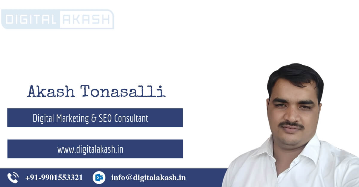 SEO Expert - Akash Tonasalli