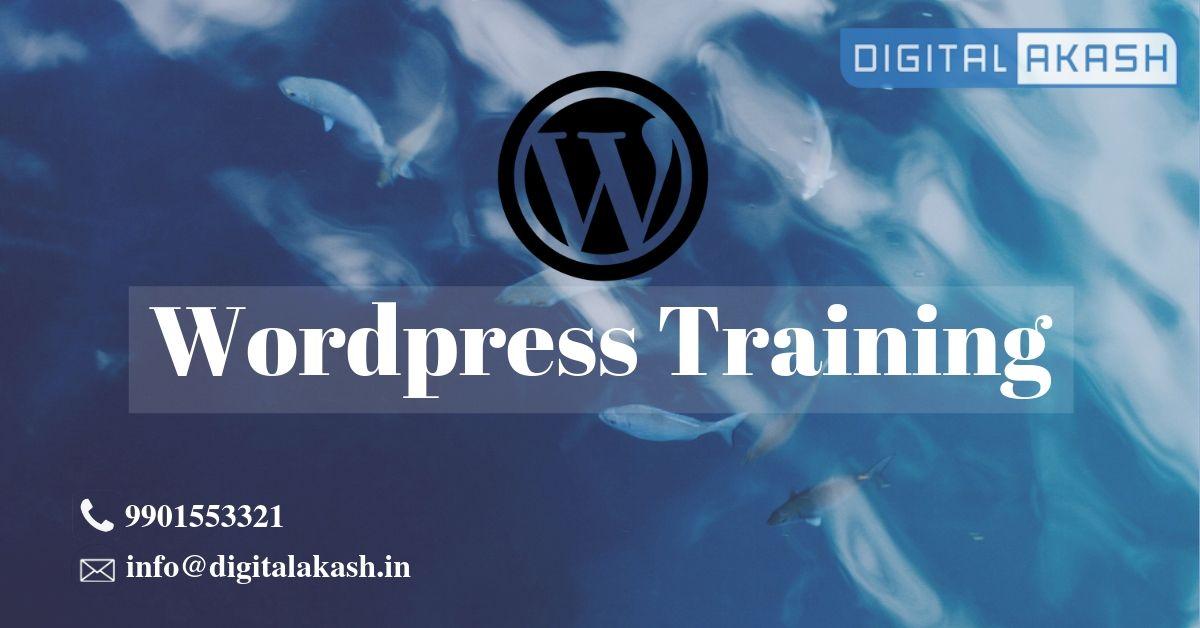 Word press training
