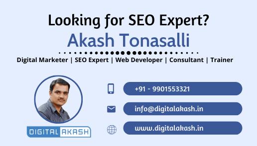 Akash Tonasalli SEO Expert