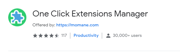 One click extension manager